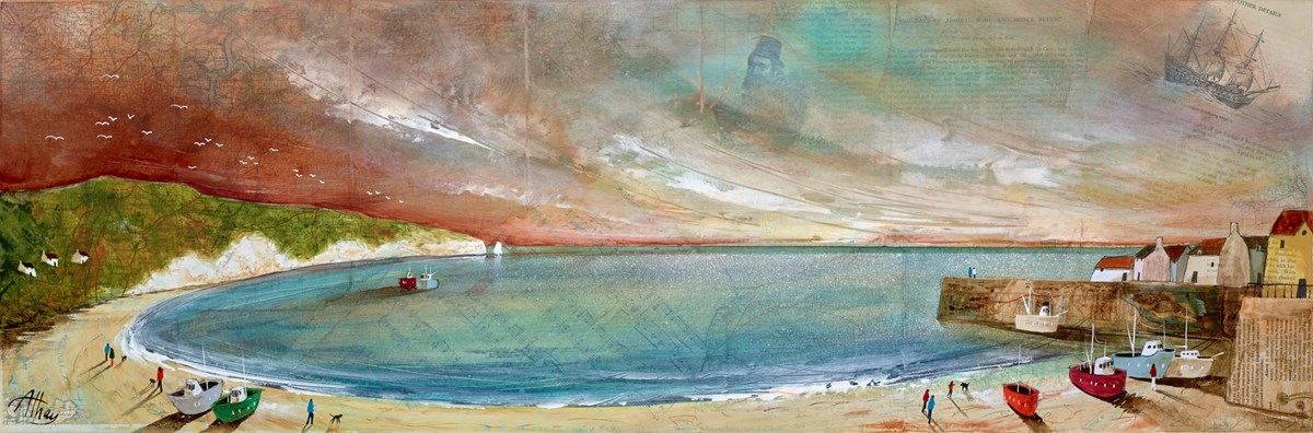 Seashore Music by keith athay -  sized 35x12 inches. Available from Whitewall Galleries